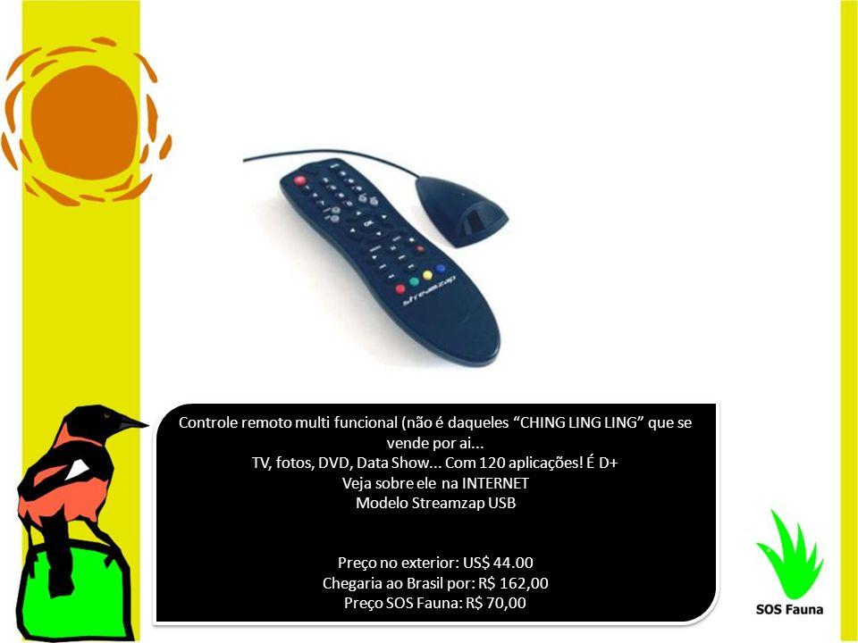 TV, fotos, DVD, Data Show... Com 120 aplicações! É D+