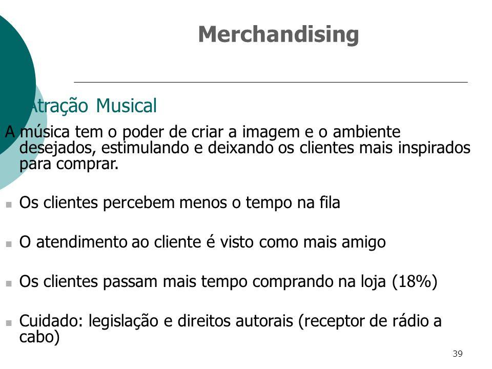 Merchandising Atração Musical