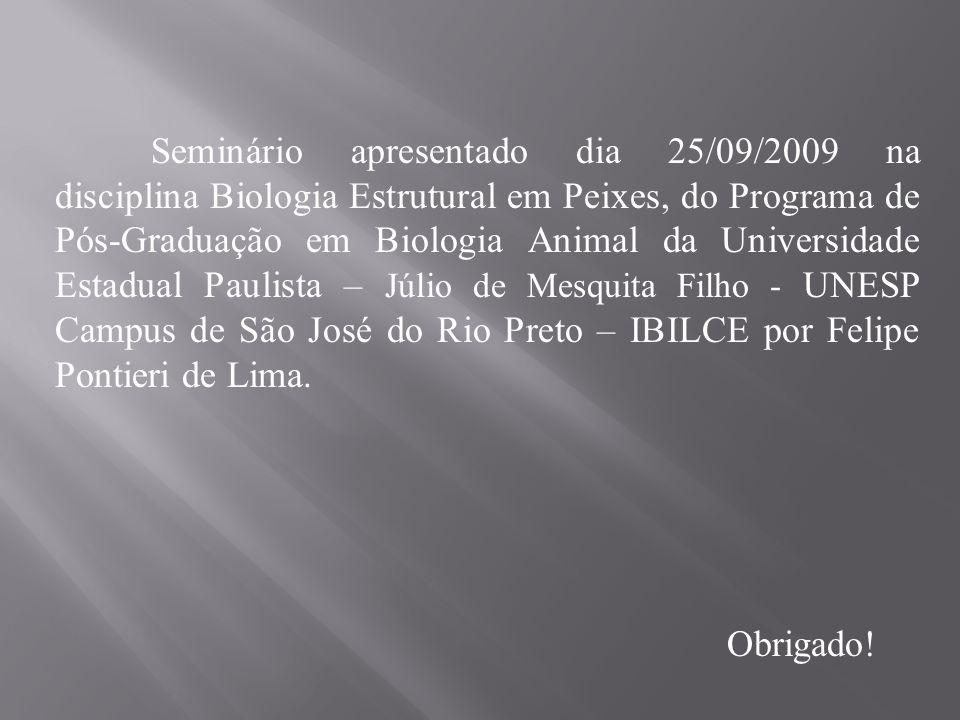 Seminário apresentado dia 25/09/2009 na disciplina Biologia Estrutural em Peixes, do Programa de Pós-Graduação em Biologia Animal da Universidade Estadual Paulista – Júlio de Mesquita Filho - UNESP Campus de São José do Rio Preto – IBILCE por Felipe Pontieri de Lima.