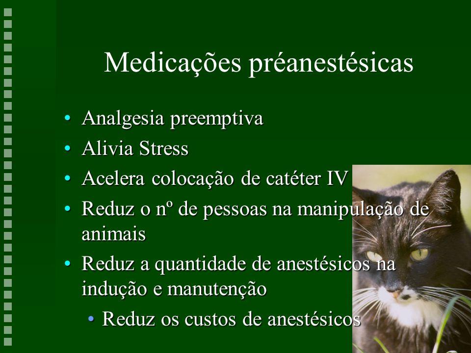 Medicações préanestésicas
