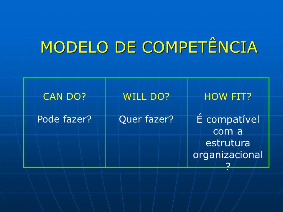 É compatível com a estrutura organizacional