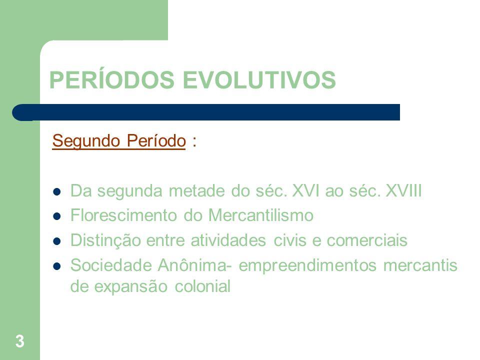 PERÍODOS EVOLUTIVOS Segundo Período :