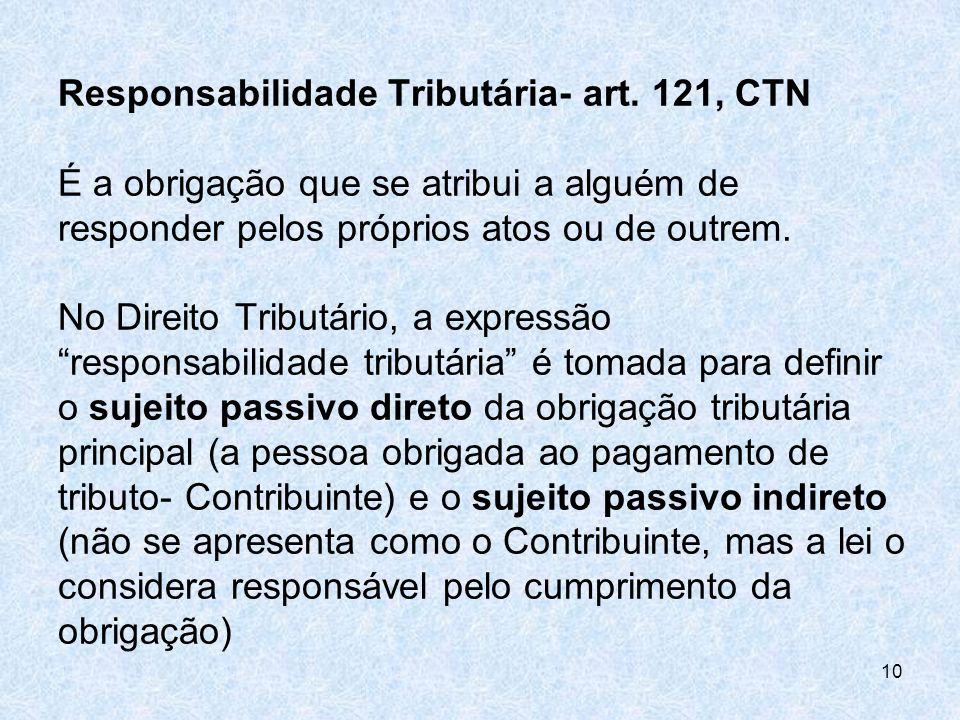 Responsabilidade Tributária- art