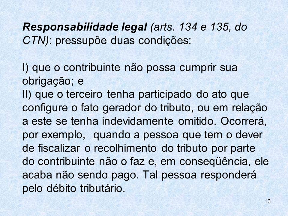 Responsabilidade legal (arts