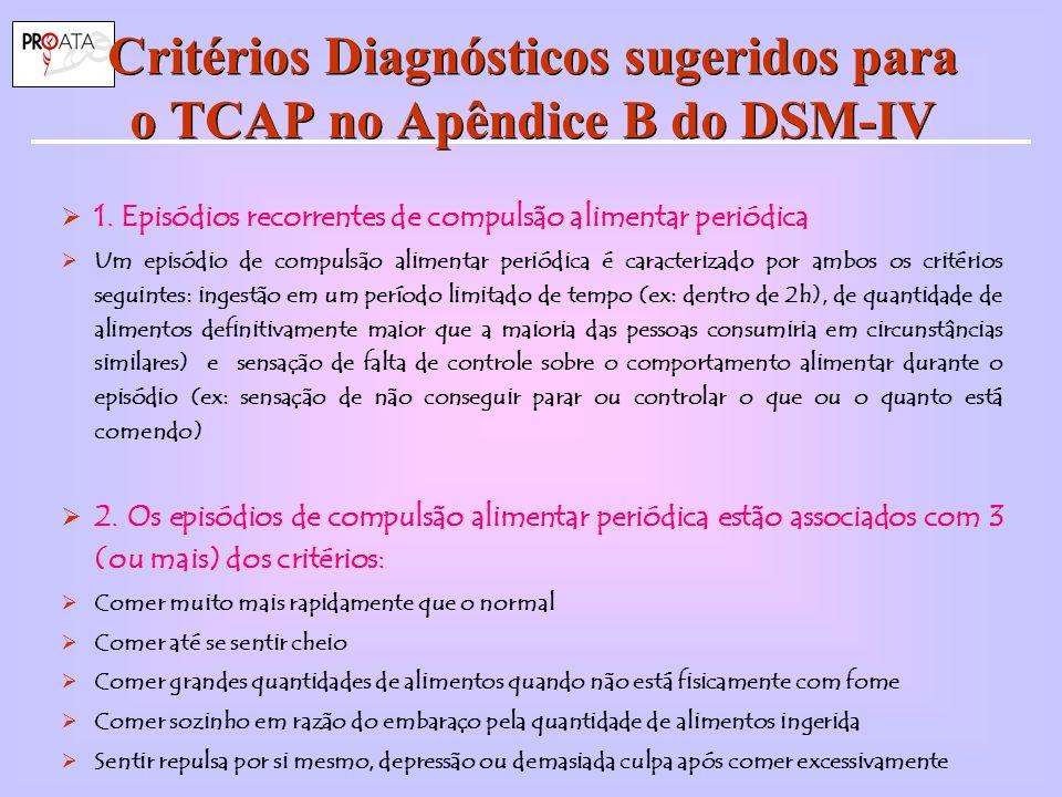 Critérios Diagnósticos sugeridos para o TCAP no Apêndice B do DSM-IV