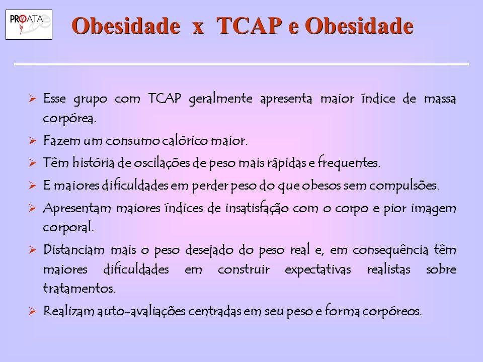 Obesidade x TCAP e Obesidade