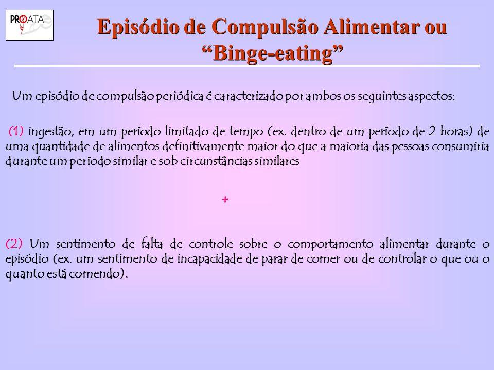 Episódio de Compulsão Alimentar ou Binge-eating