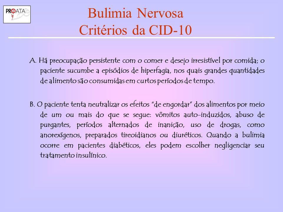 Bulimia Nervosa Critérios da CID-10