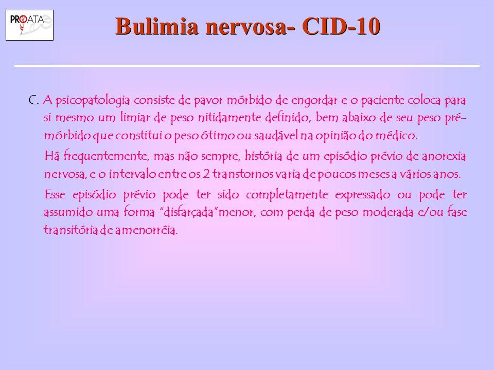 Bulimia nervosa- CID-10