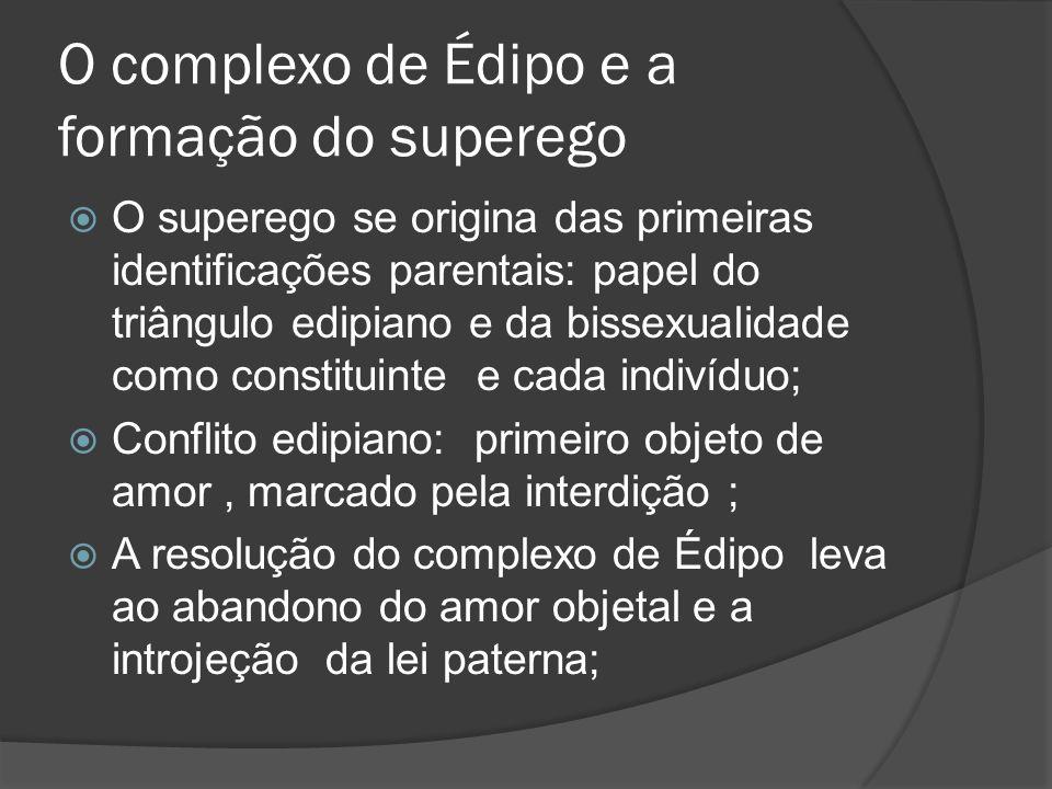 O complexo de Édipo e a formação do superego