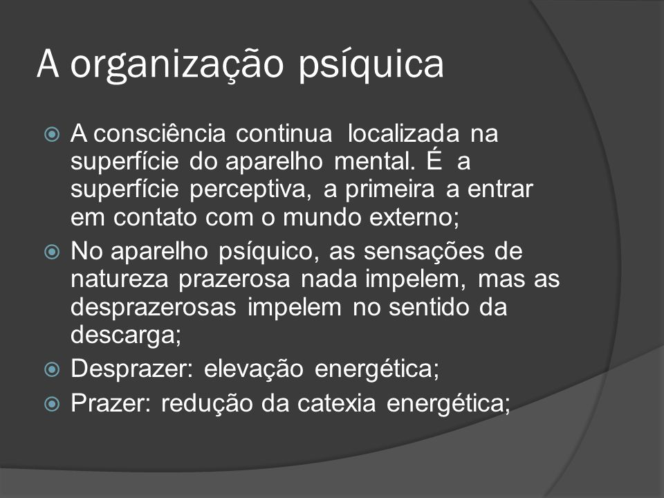 A organização psíquica