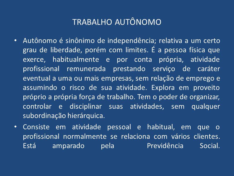 TRABALHO AUTÔNOMO