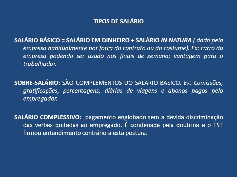 TIPOS DE SALÁRIO
