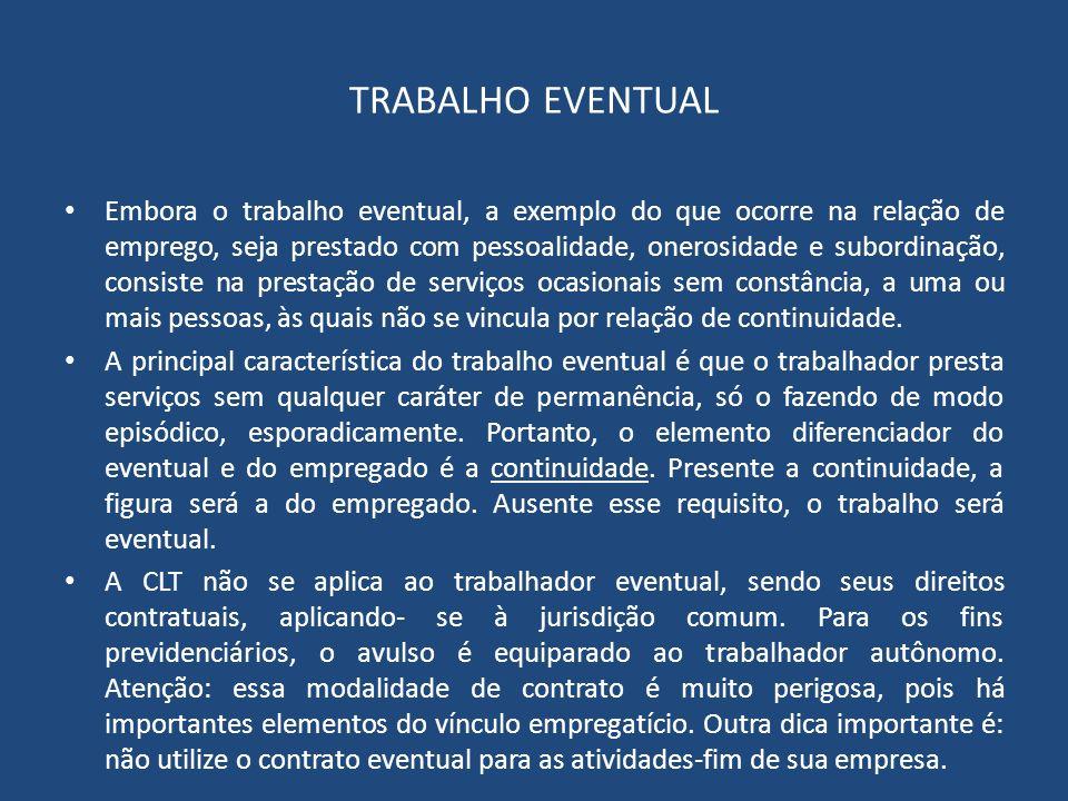 TRABALHO EVENTUAL