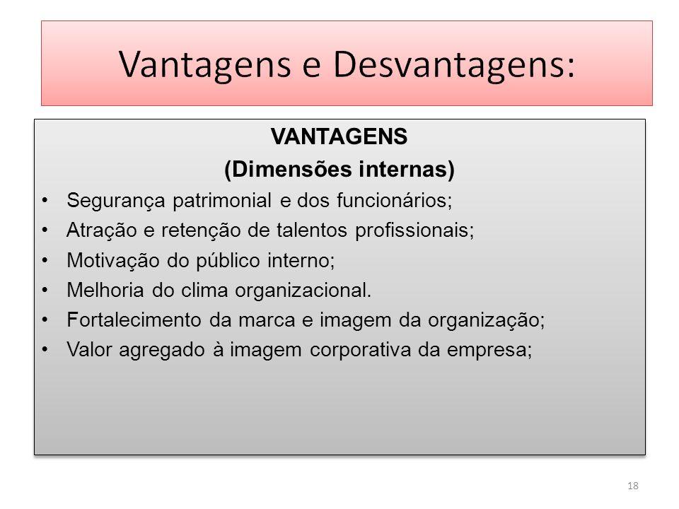 Vantagens e Desvantagens: