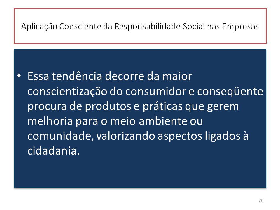Aplicação Consciente da Responsabilidade Social nas Empresas