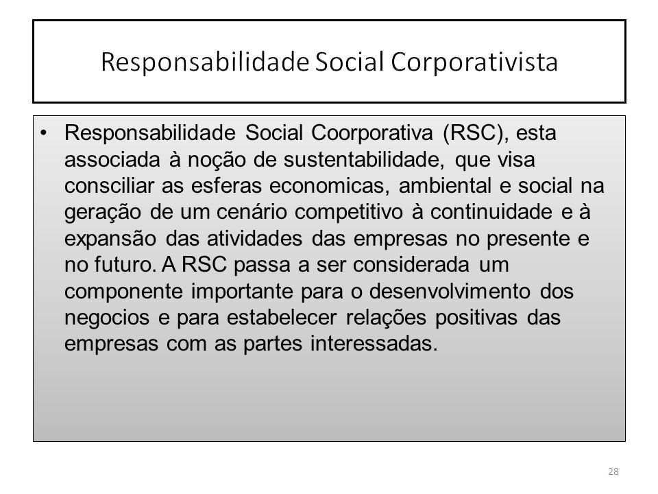 Responsabilidade Social Corporativista