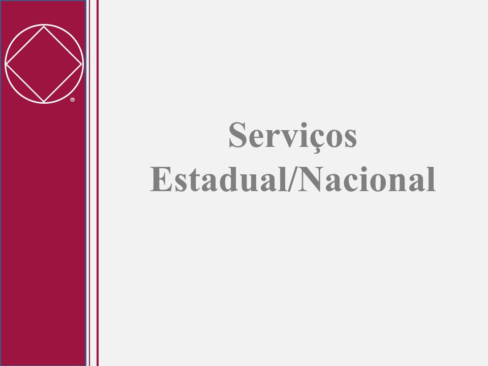 Serviços Estadual/Nacional