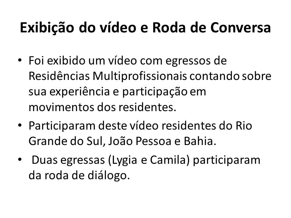 Exibição do vídeo e Roda de Conversa