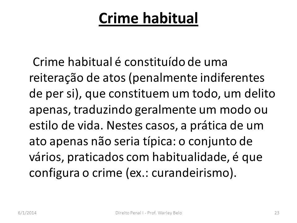 Direito Penal I - Prof. Warley Belo