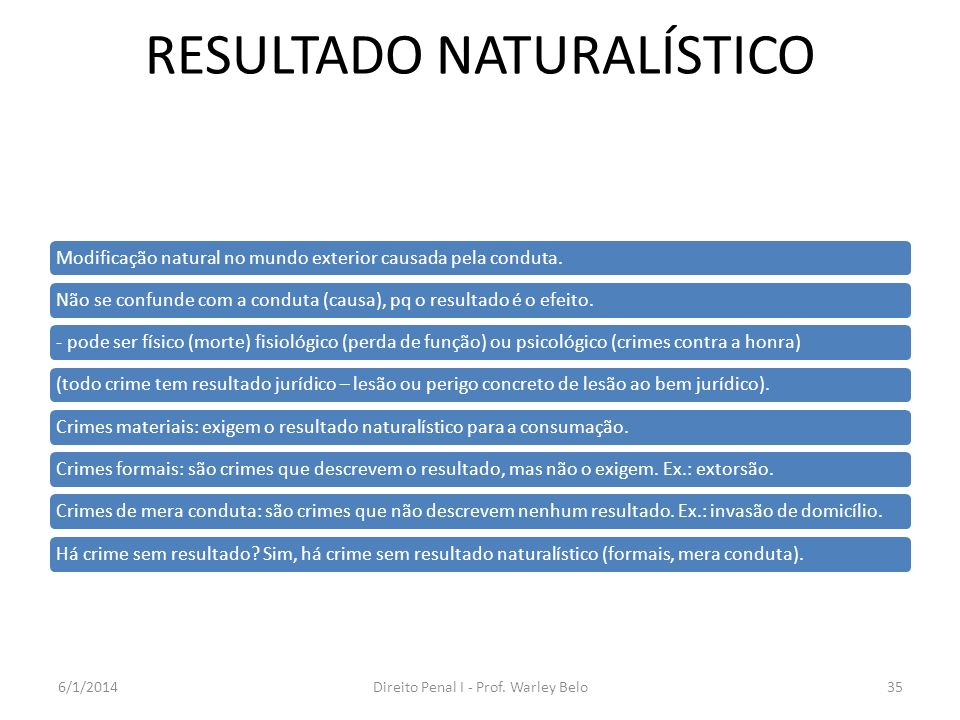 RESULTADO NATURALÍSTICO