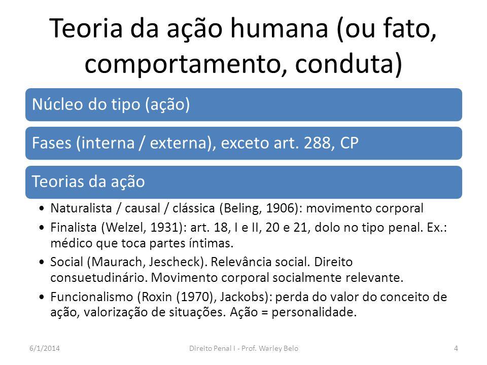 Teoria da ação humana (ou fato, comportamento, conduta)