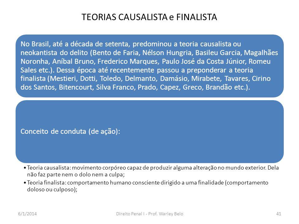 TEORIAS CAUSALISTA e FINALISTA