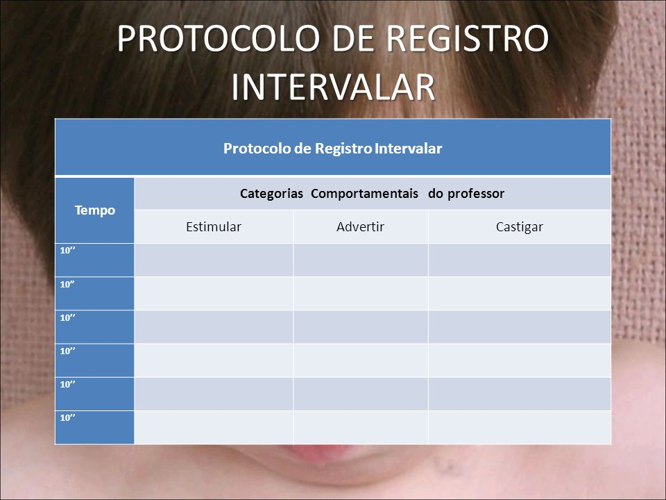 PROTOCOLO DE REGISTRO INTERVALAR