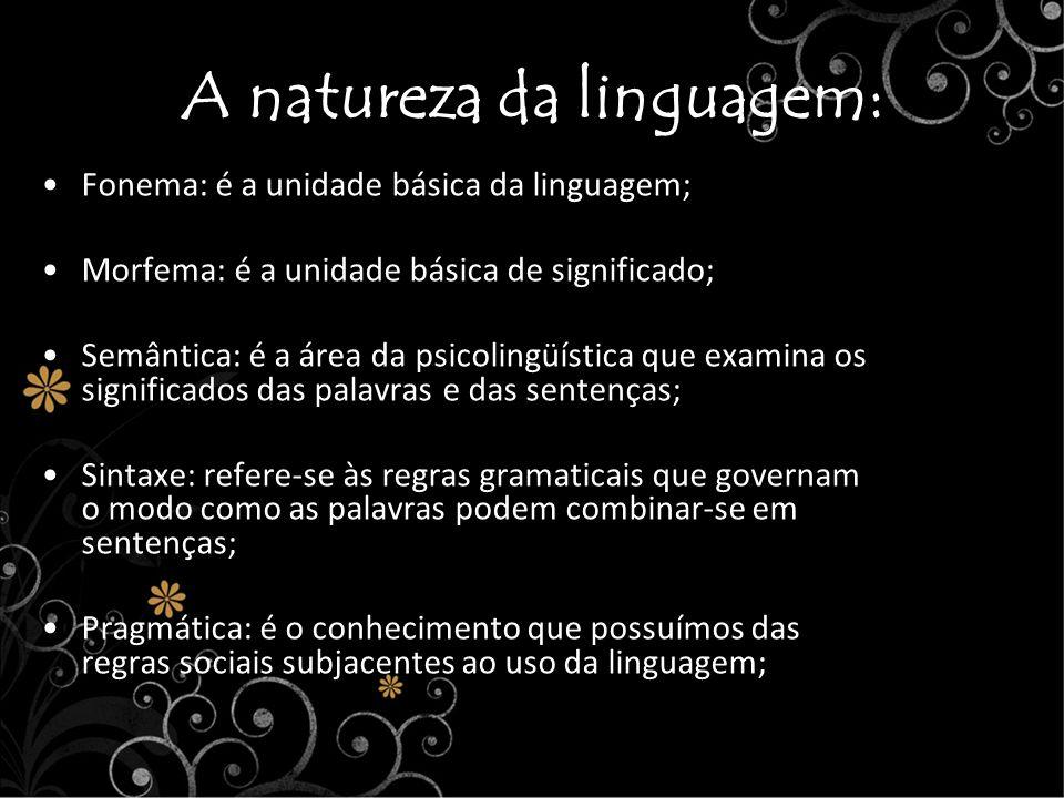A natureza da linguagem: