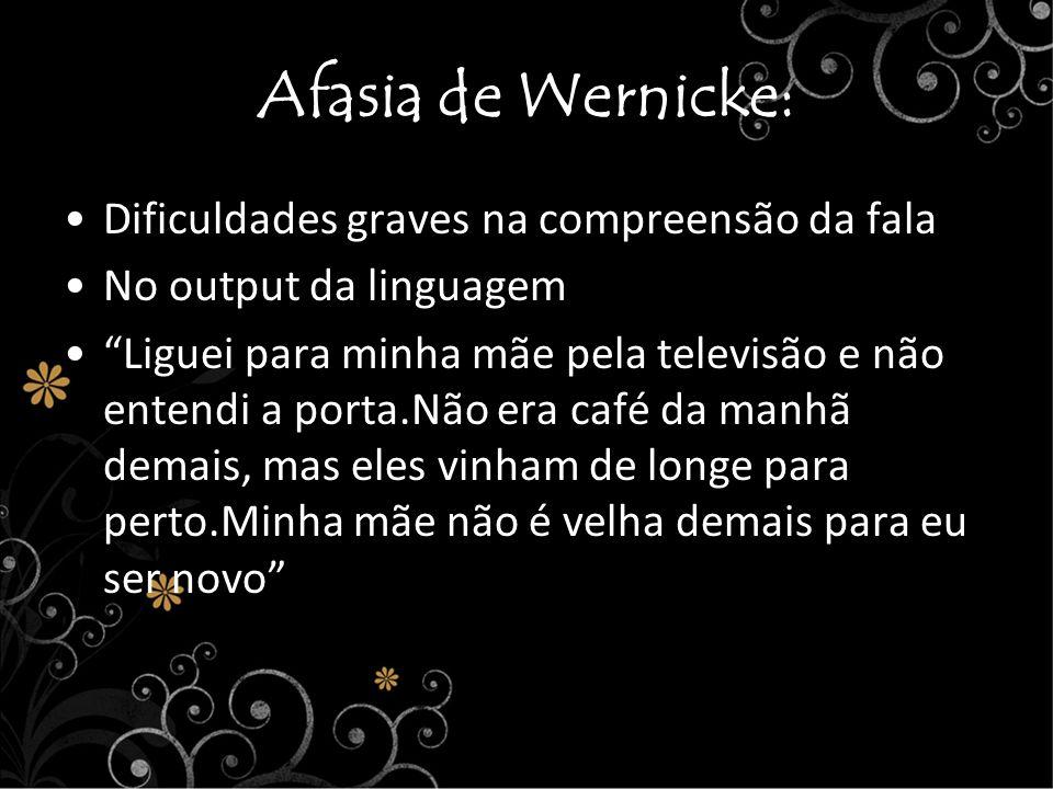 Afasia de Wernicke: Dificuldades graves na compreensão da fala