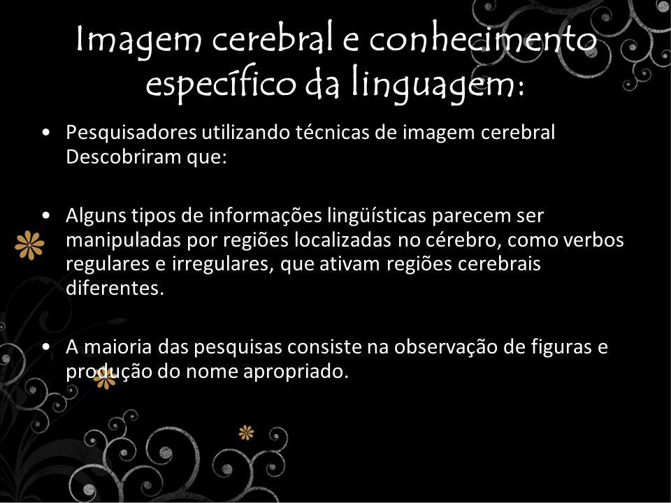 Imagem cerebral e conhecimento específico da linguagem: