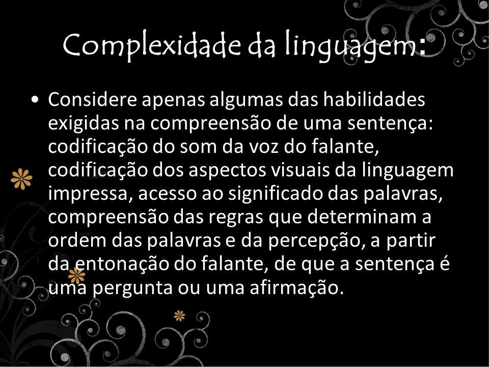 Complexidade da linguagem: