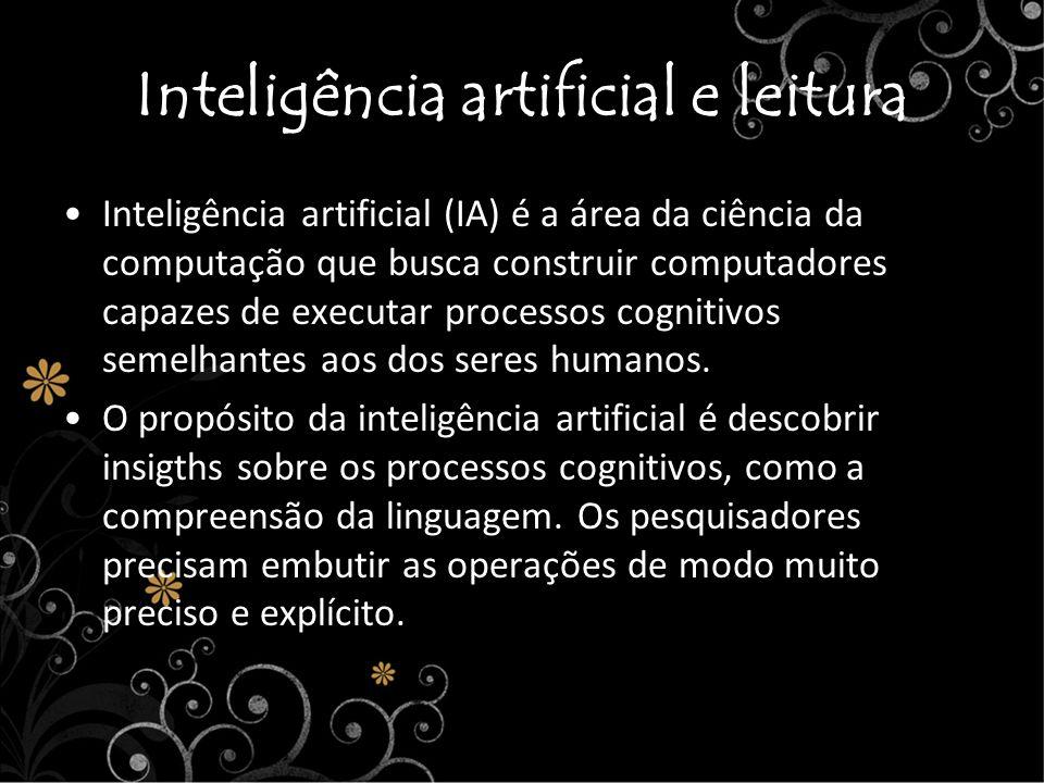 Inteligência artificial e leitura