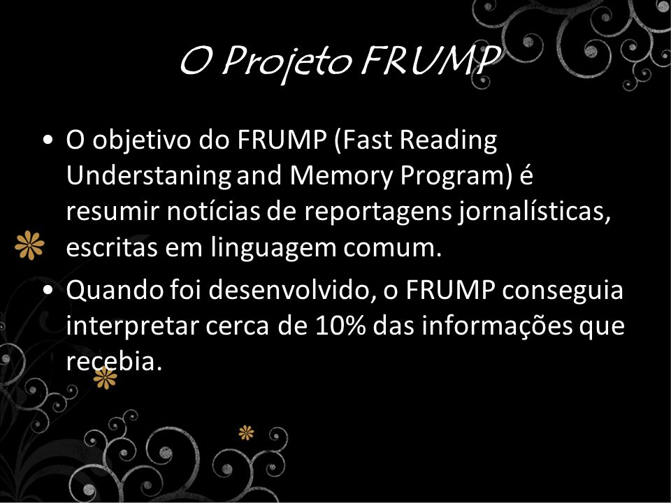 O Projeto FRUMP