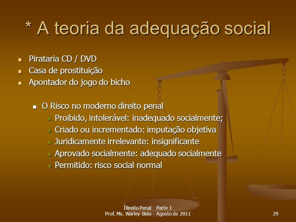 * A teoria da adequação social