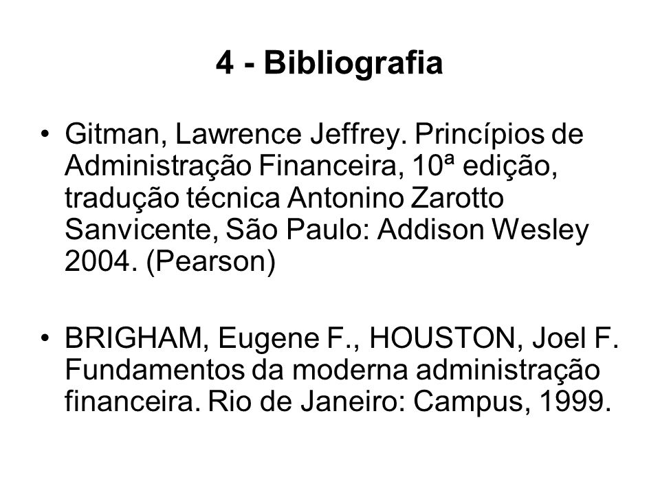 4 - Bibliografia