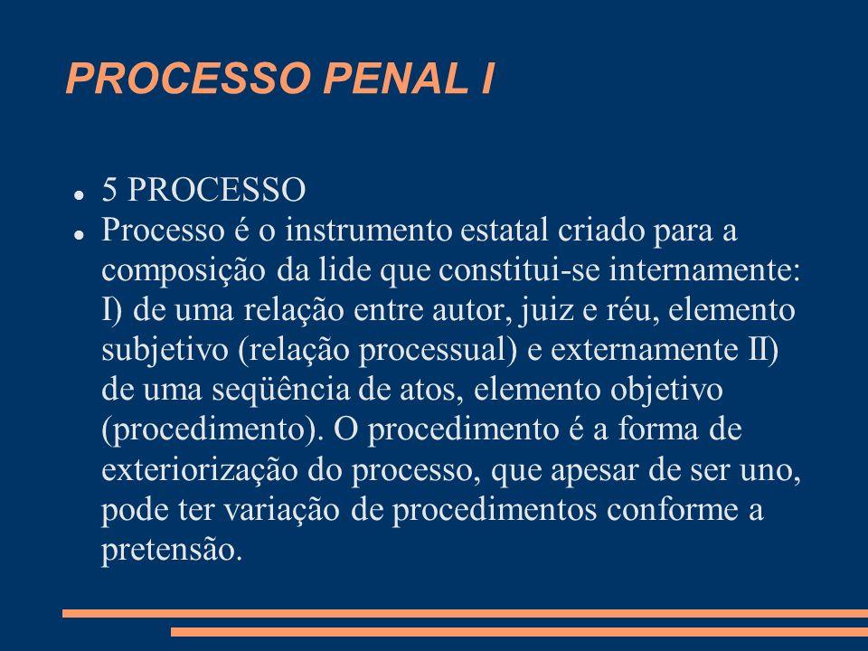 PROCESSO PENAL I 5 PROCESSO