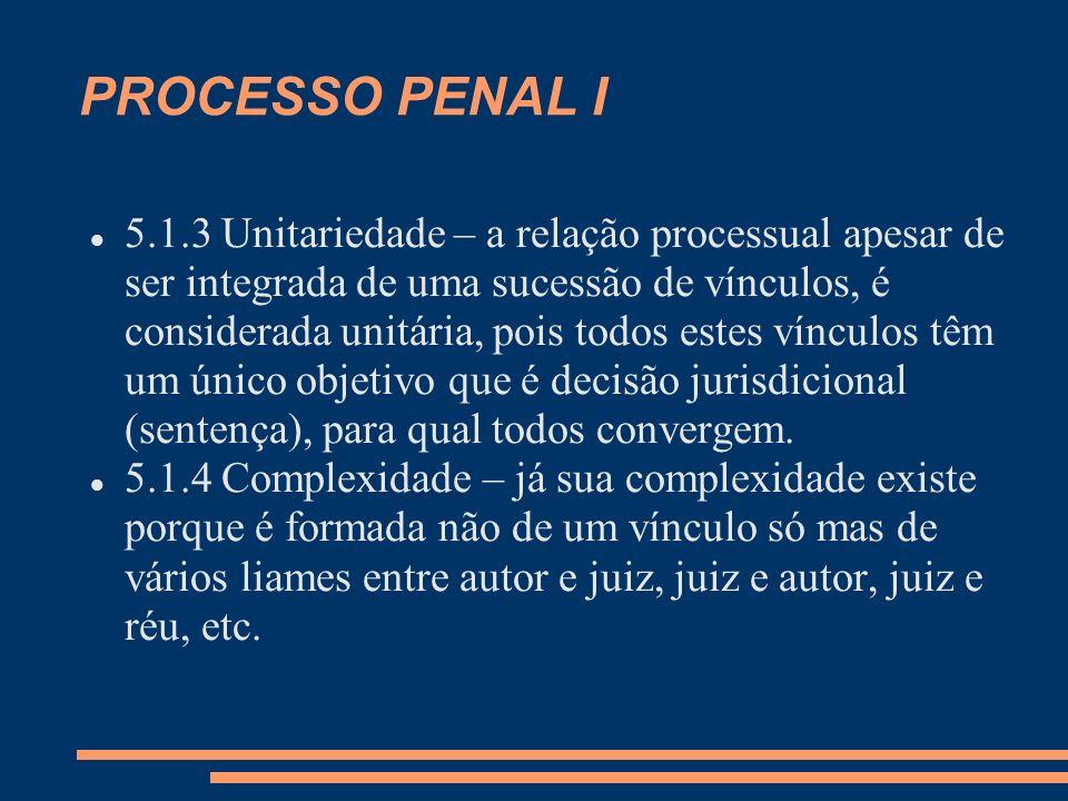 PROCESSO PENAL I