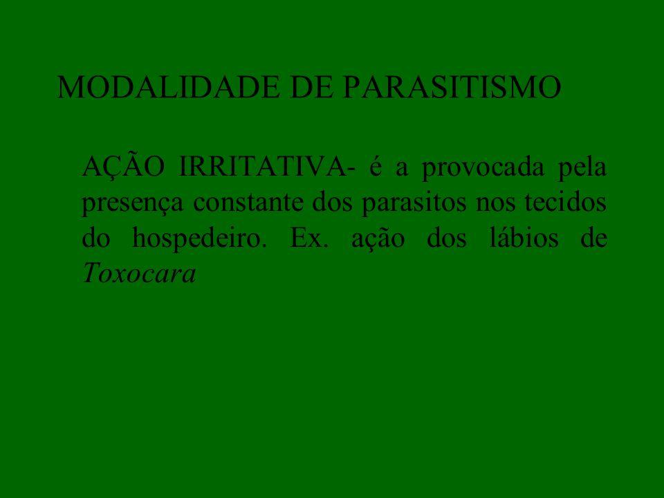 MODALIDADE DE PARASITISMO