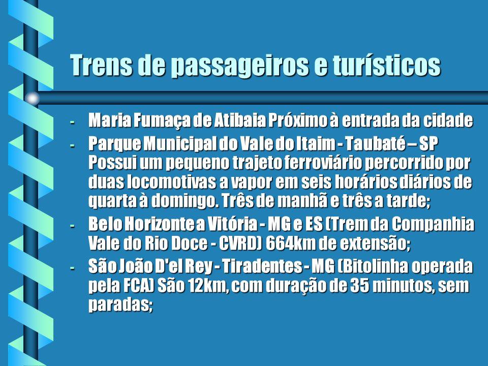 Trens de passageiros e turísticos