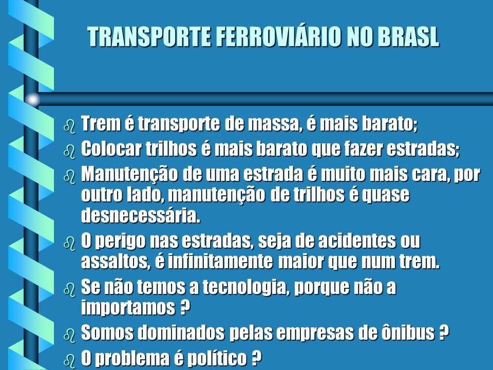 TRANSPORTE FERROVIÁRIO NO BRASL