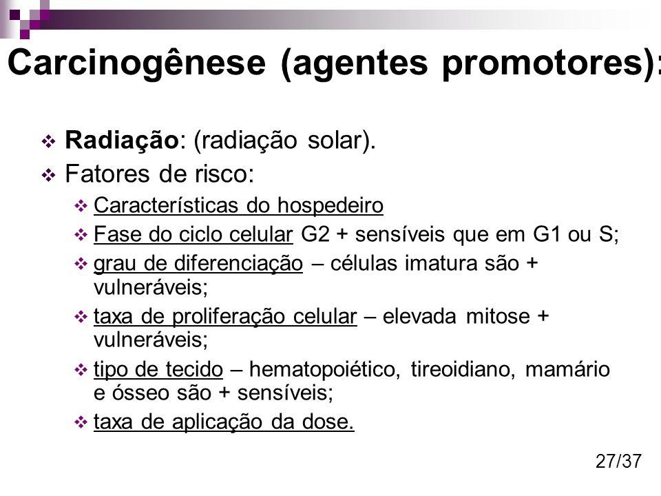 Carcinogênese (agentes promotores):
