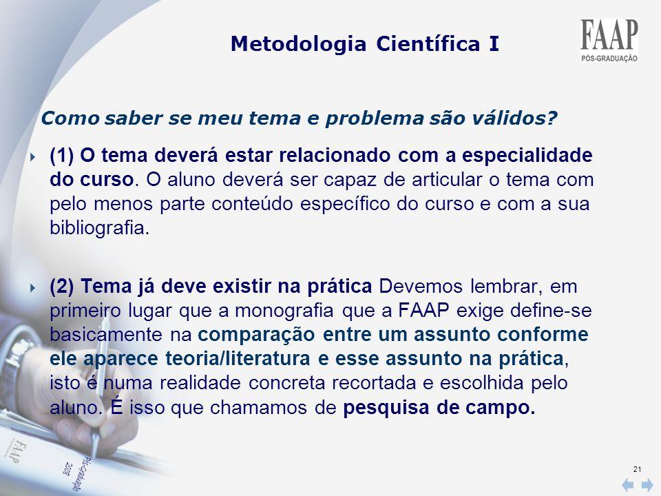 Metodologia Científica I