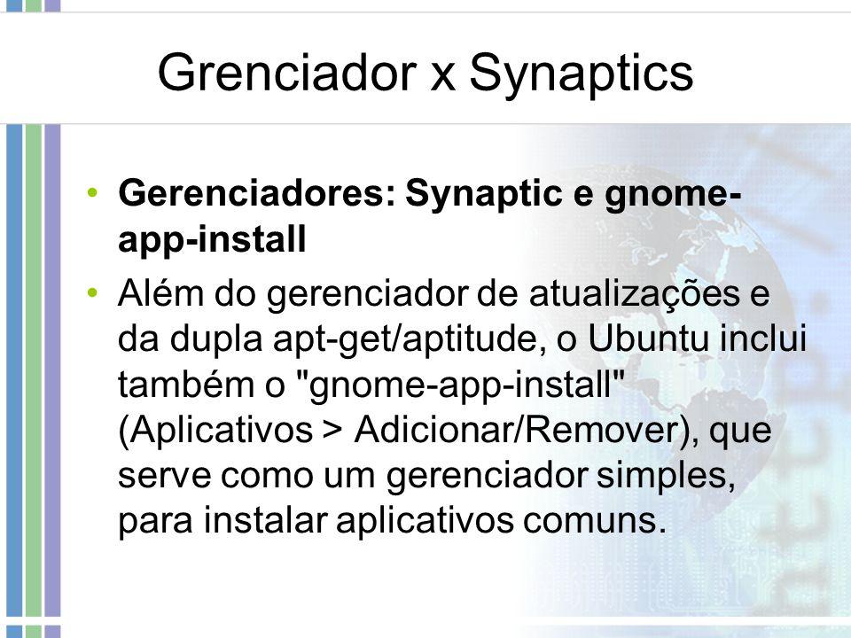 Grenciador x Synaptics