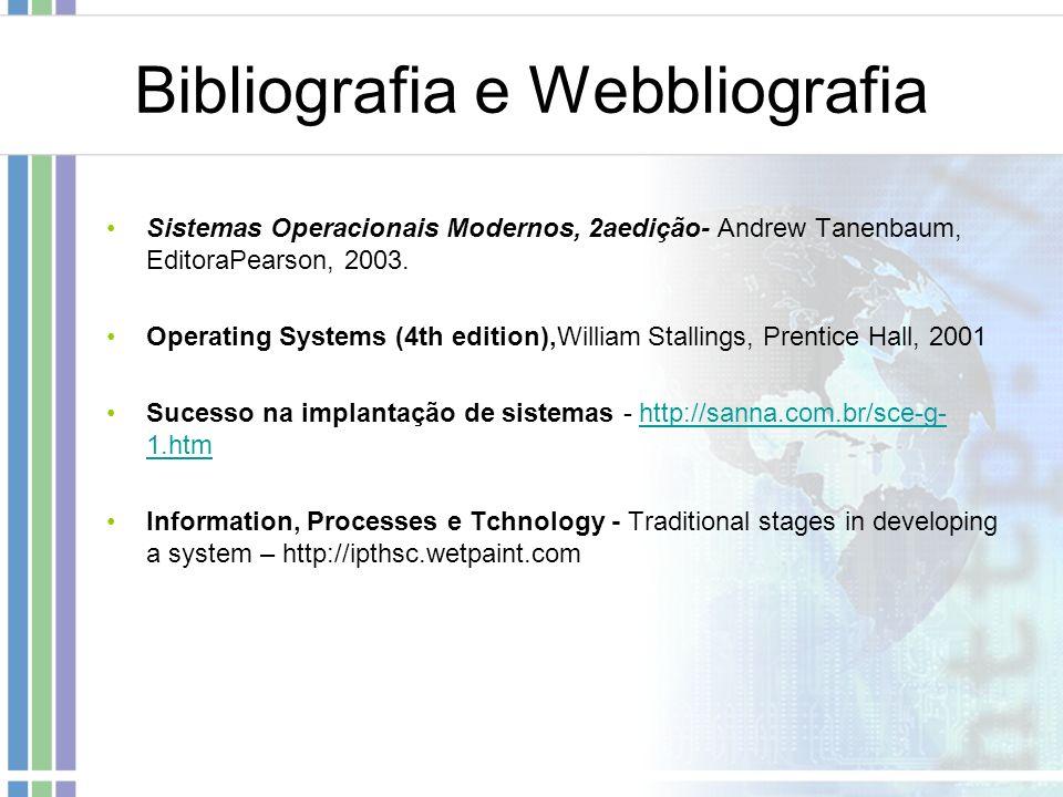 Bibliografia e Webbliografia