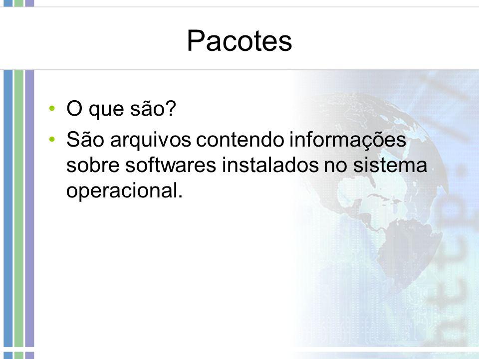 Pacotes O que são.
