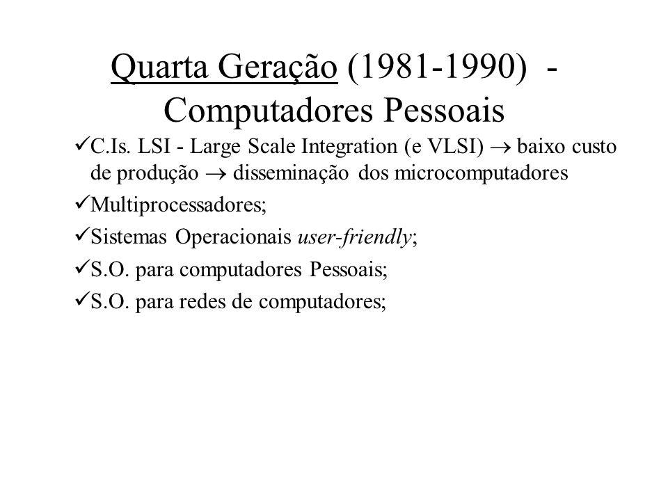 Quarta Geração (1981-1990) - Computadores Pessoais