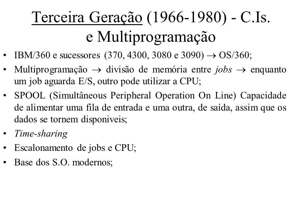 Terceira Geração (1966-1980) - C.Is. e Multiprogramação