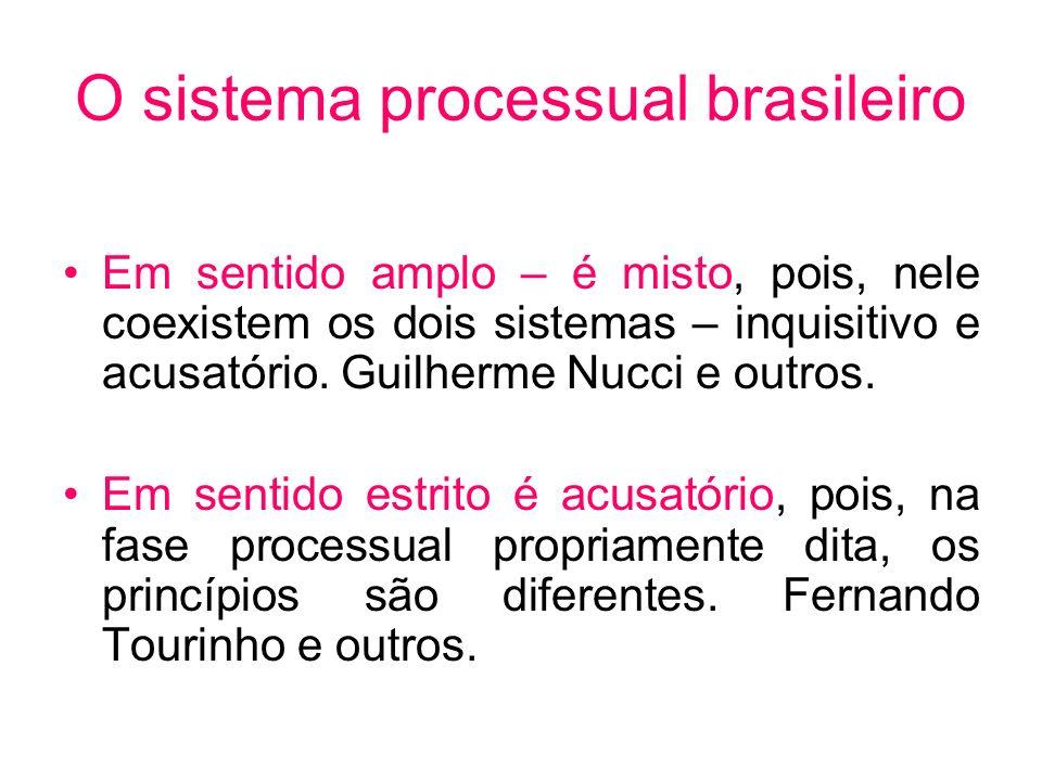 O sistema processual brasileiro