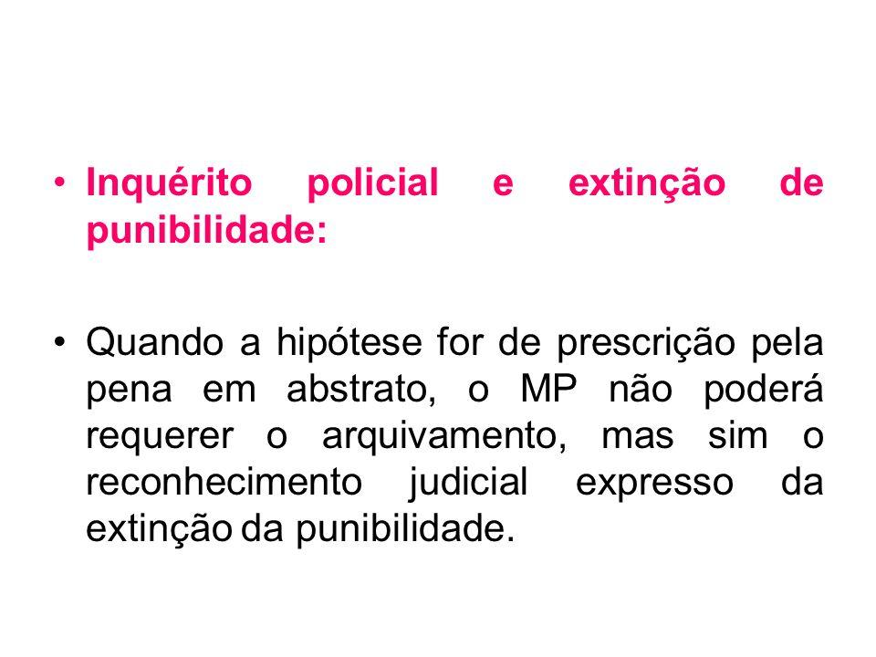 Inquérito policial e extinção de punibilidade: